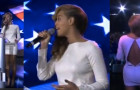 Beyonce Wows New Orleans Crowd in Olcay Gulsen Open Back Dress
